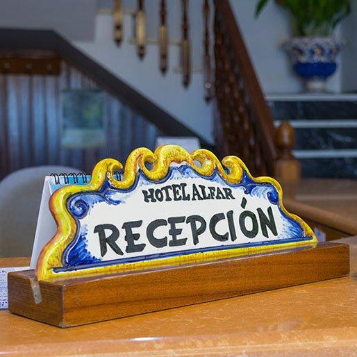 Recepción Hotel Alfar